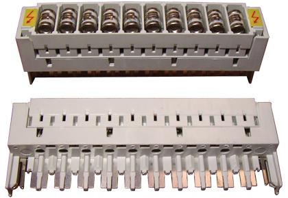 Магазин защиты EWIG 10MPR для врезного плинта  в комплекте с газовыми разрядниками