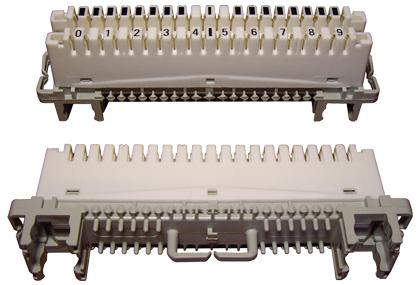 Плинт EWIG 10MD на 10 пар с размыкаемыми контактами