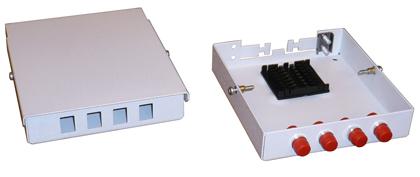 Кроссы оптические настенные ШКОН (КОН)-4 микро на 4 порта