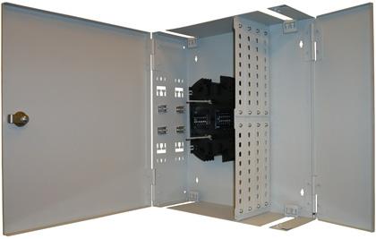 Кроссы оптические настенные КОН (ШКОН) на 8, 16, 24, 32, 48 и 96 портов