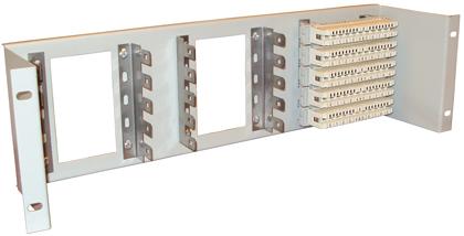 Модуль подключения МП-3U, 4U 19 дюймов с монтажными скобами