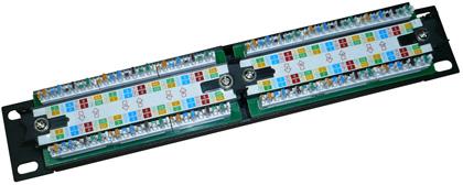 Патч-панель предназначена для монтажа обычного неэкранированного кабеля UTP.