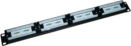 Патч-панели EWIG коммутационные UTP 19 дюймов 1U, 24 порта, RJ45, категории 5e, 6