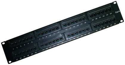 Патч-панели коммутационные EWIG UTP 19 дюймов 2U, 48 портов, RJ45, IDC, 110, категории 5e, 6