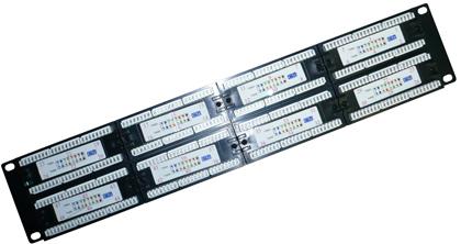 Патч-панели EWIG коммутационные UTP 19 дюймов 2U, 48 портов, RJ45, категории 5e, 6